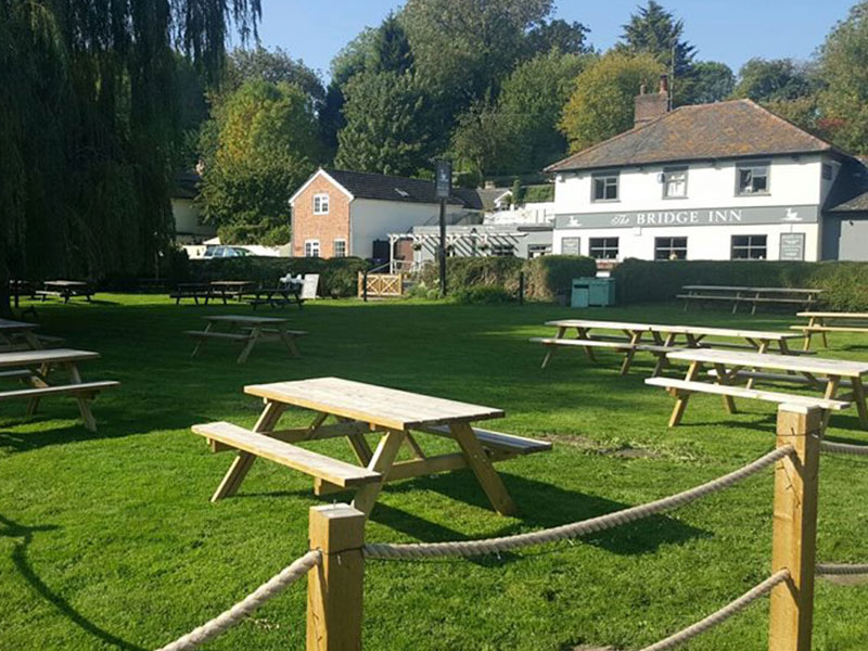 Landscape maintenance at the Bridge Inn Amesbury
